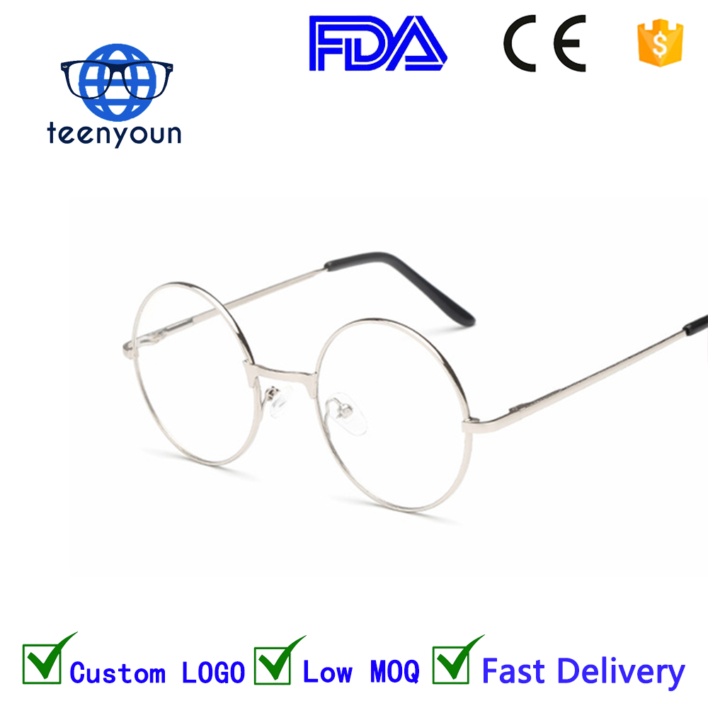 fc737ab8393 1862 Men women Round Sunglasses Retro Metal Frame Eyeglasses Korean Clear  Lens Glasses Male Female Optical Circle Plain Mirror
