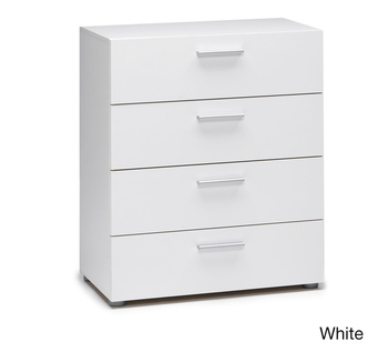 White Finish Mdf Wood Drawer Chest Chest Of Drawers Design