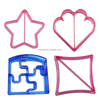 Kids Sandwich Cutter Set of 4 - Sandwich and Bread Crust Cutters in 4 Cute Shapes & Cooking Tips