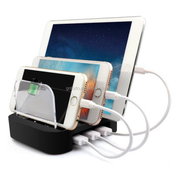 Housing Design 5 Port Usb Charger Cell Phone Charging Station Travel
