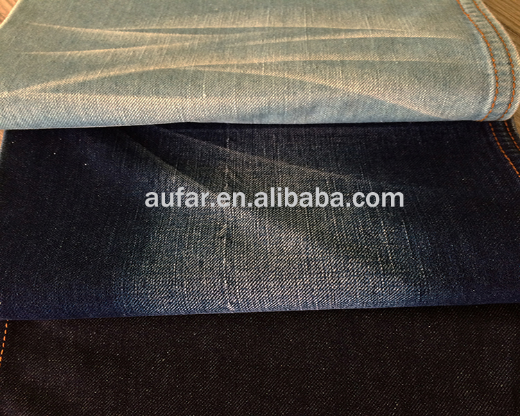 combed cotton yarn indigo thin denim fabric for shirt and skirt and children's garment ready in stock