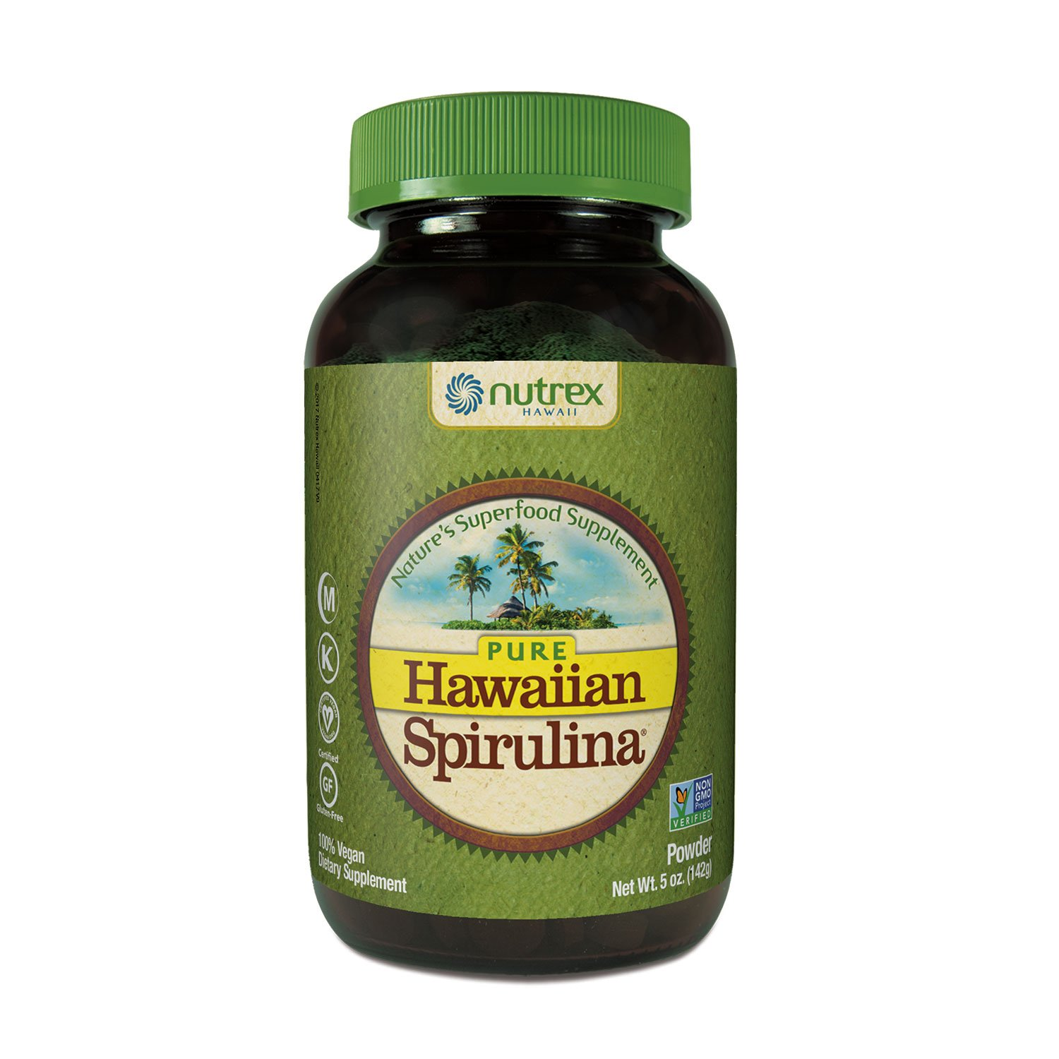 Hawaiian Spirulina Plant Protein Shake, 12.8oz – 16g Protein per serving – Natural Vanilla – Boosts Energy & Supports Recovery - Non-GMO, Vegan, Gluten Free