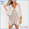 2017 new design fashion Lady Wholesale Clothes Factory Casual Print Backless Sexy Dress Club part of long sleeve mini dress