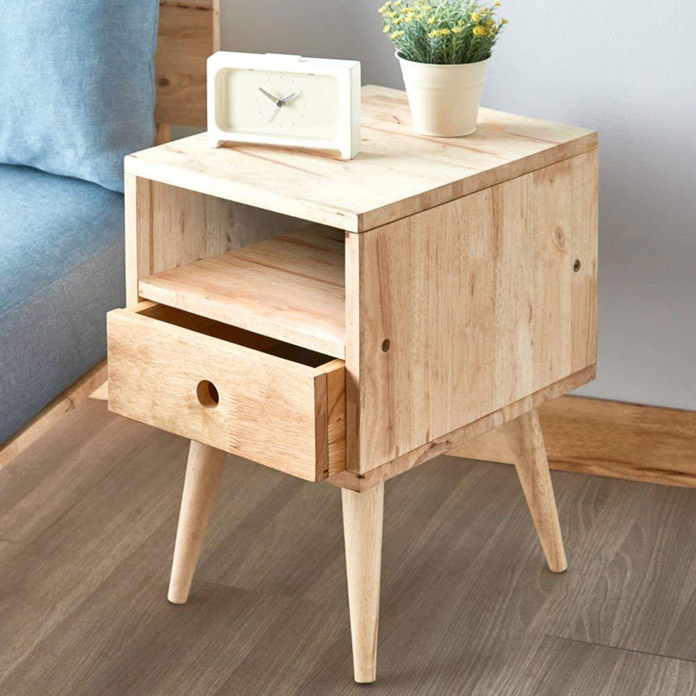 Rack shelf Rack Full Solid Wood Bedside Cabinet Drawer DIY Cabinet Modern Simple Leisure Living Room Bedside Cabinet (Color : B)