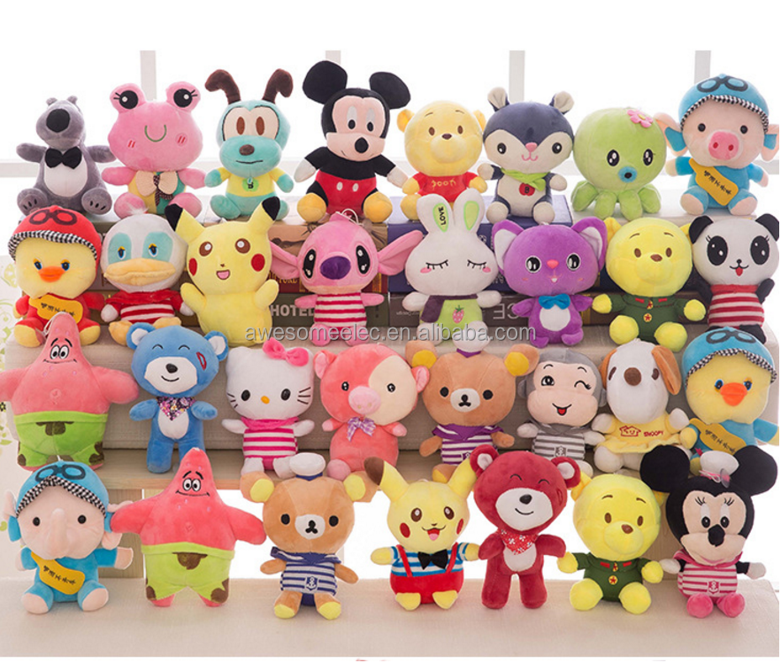 "Factory Cheap Promotional crane machine 7"" Plush toys, claw machine doll, plush stuffed animal toys for crane machine"