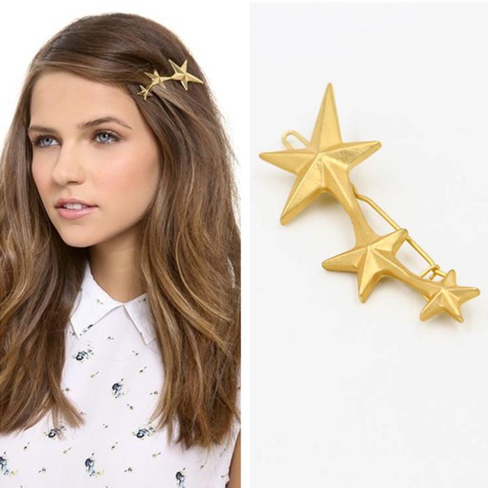 Buy 2015 fashion hair jewelry harajuku brand star hairpins gold hair