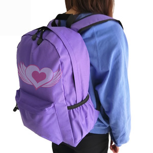 Cartoon Practical Convenient Custom Color Label School Backpack With Long Shoulder Strap For Kids Students