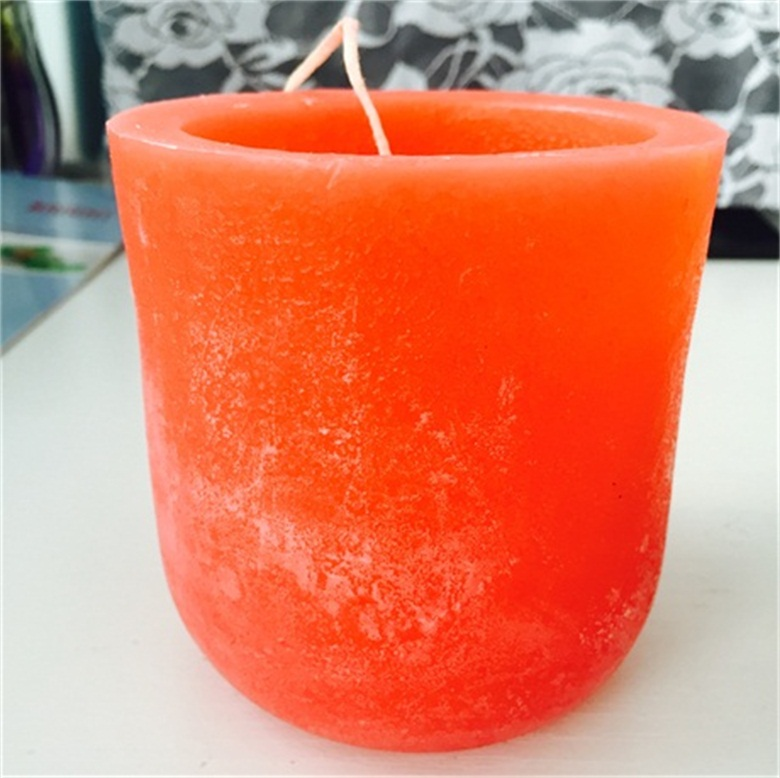 Long Burning Time Traveling Use Scented Concaved Top Craft Pillar Candle