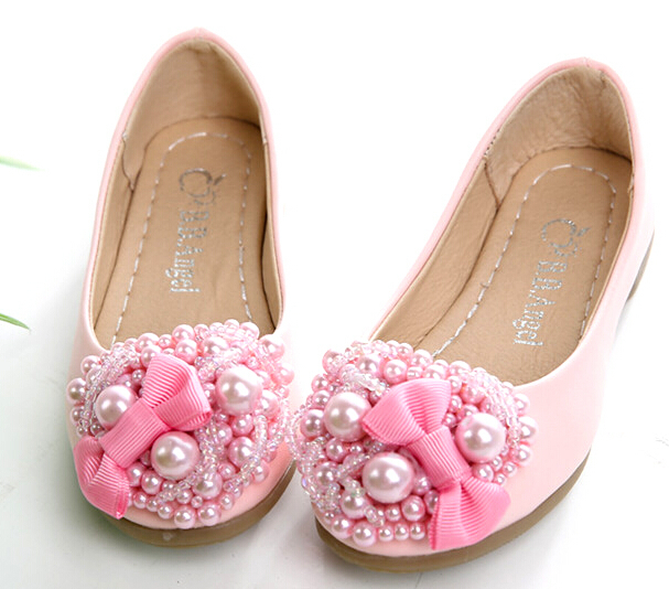 Children Girls Party Shoes Princess Girls Sequins Bow Flat Shoes Kids Flat Pink Girl Moccasin Shoes Boat Shoes 3A