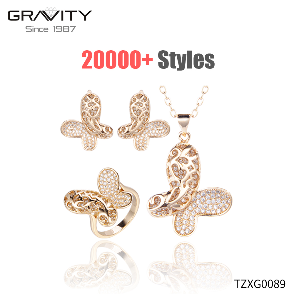 wholesale high and fashion costume imitation jewellery one gram online dubai pure 18k/24k gold plated jewelry sets