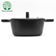 9.5 inch Luxury Black Gold Die Cast Aluminum Non-stick Dutch Oven