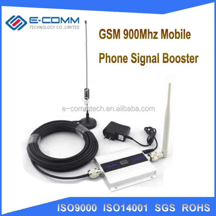 Wholesale LCD GSM Booster 2G Cell Phone GSM Signal Booster 900mhz Mobile Signal Repeater Cellular Amplifier with Antenna