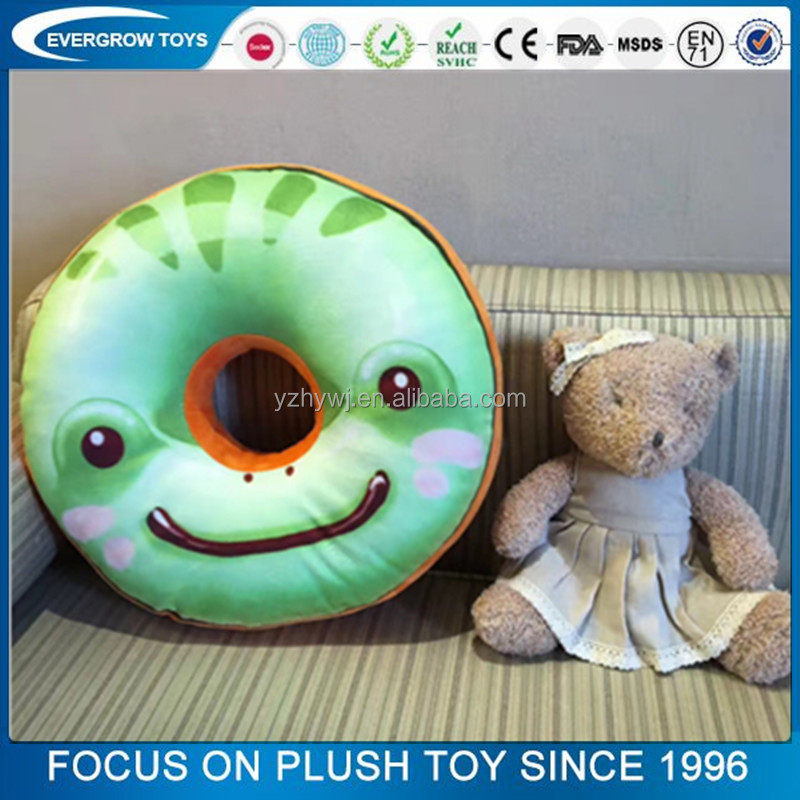 plush toy printed pillow donut