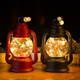 Wholesale creative Oil lamp shape Copper wire led lantern home decoration
