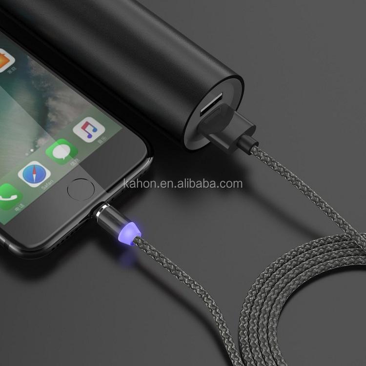 Trasporto Libero KAHEAUM Nuovo 3 in 1 LED Cavo USB Magnetico Cavo Del Caricatore Del Telefono Mobile per il iphone Micro Tipo C