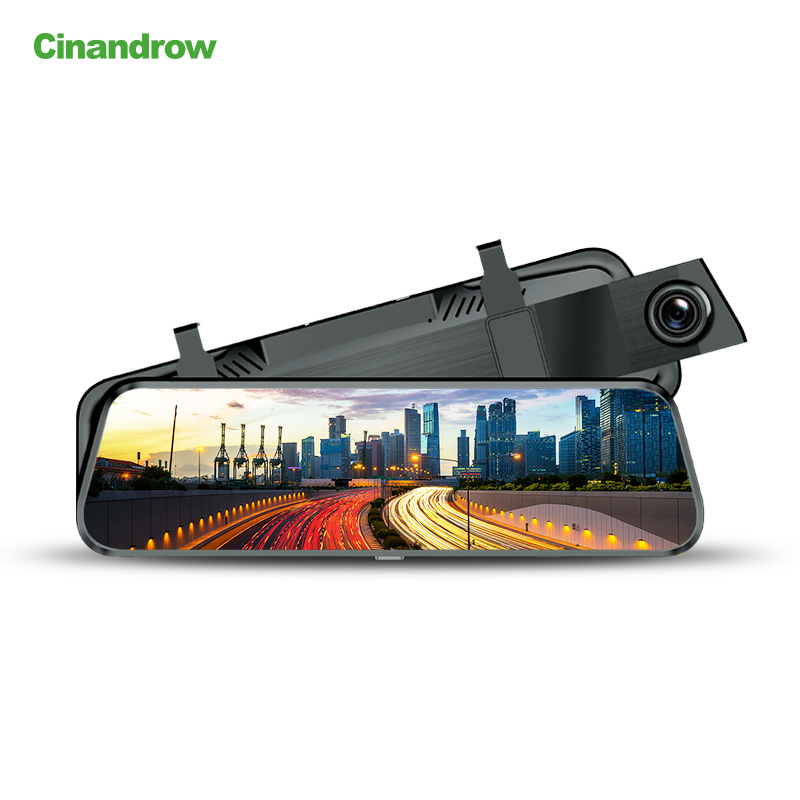 Android Wifi 3G GPS Carro Navegador espelho Dashcam Full Touch Screen Dual Camera Video Recorder Cam Traço