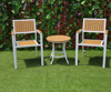 Outdoor Furniture All-weather Resistant Polywood Aluminum Frame Leisure Coffee Table And Chairs
