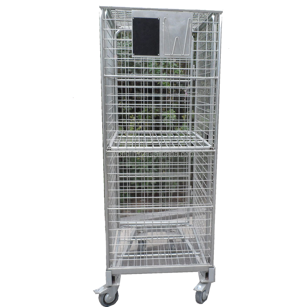 Supermarket Collapsibale Stackable Wire Container