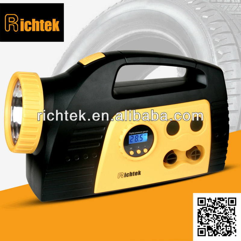 Alibaba Multifuncional Auto Digital Preset 12V Built-in high volume inflator/deflator tire inflator two way function Price