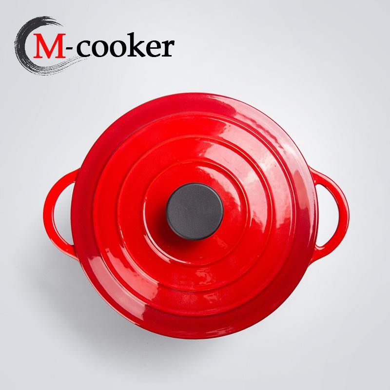 Enameled cast iron casserole dish dutch oven