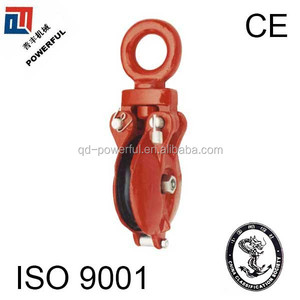RED SNATCH PULLEY WHEEL WITH EYE