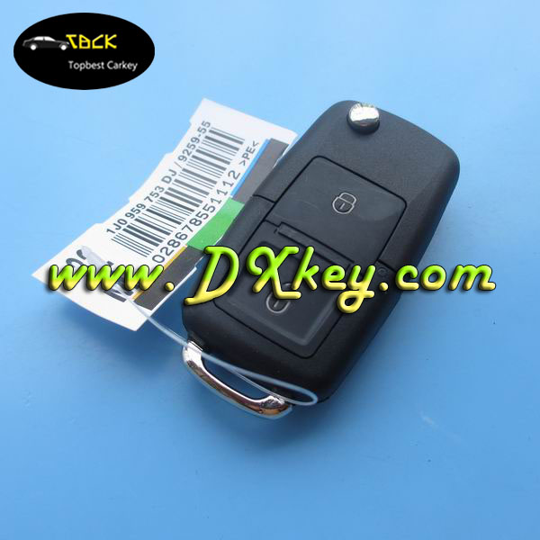 Topbest car key start 2 buttons car remote key duplicate 433Mhz ID48 chip for VW smart key