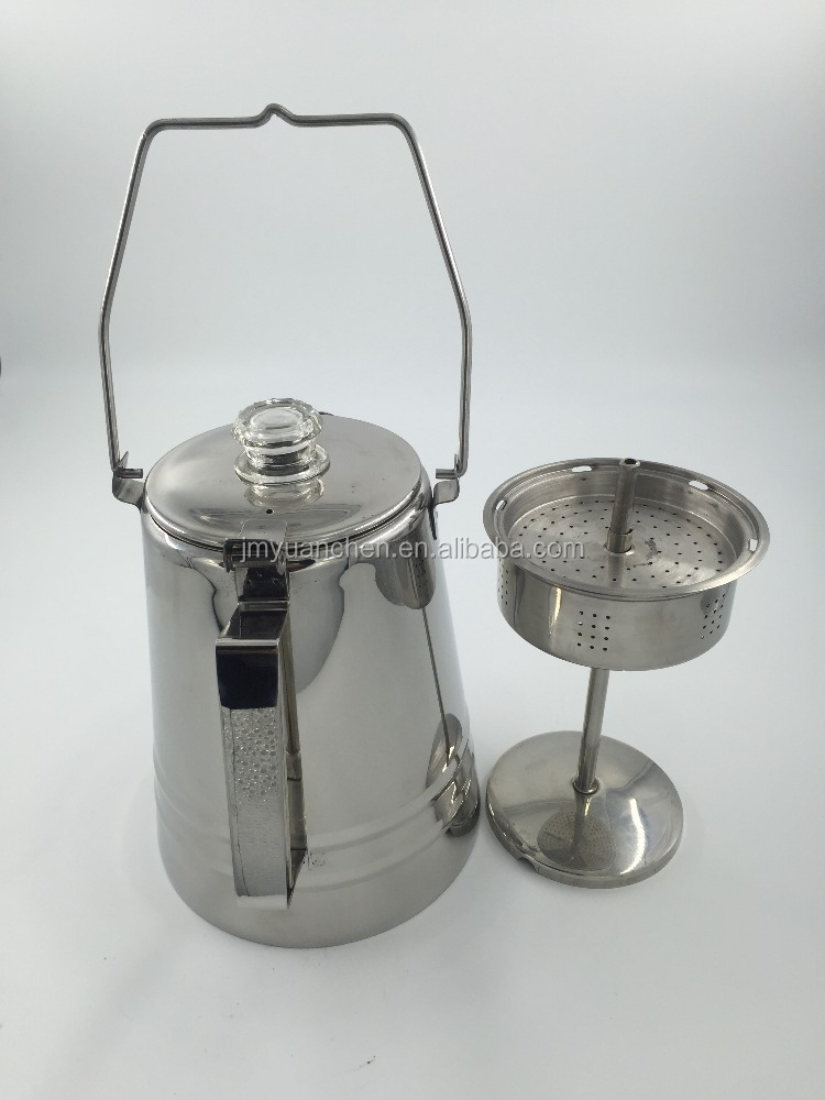2017 NEW STAINLESS STEEL CAMPING & OUTDOOR PERCOLATING COFFEE POT