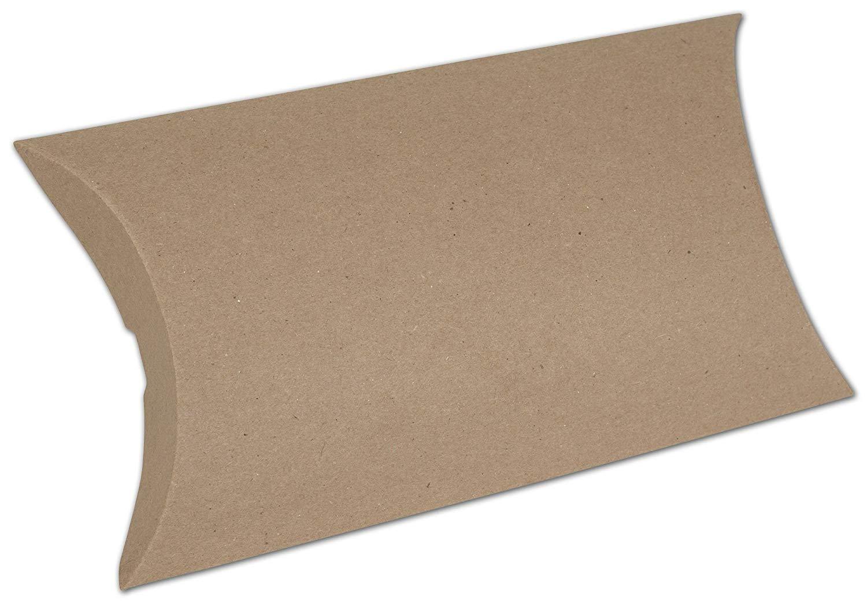 """Kraft Pillow Boxes, 7 x 5 1/2 x 2"""" (250 Boxes) - BOWS-255-070502-8"""