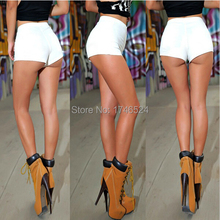 2015 Summer New Fashion AA Style Womens Sexy Skinny Thin High Waist Shorts Denim Shorts Jeans Side Zipper Short Women Clothing