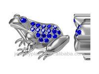 2013 YFN Unique jewelry 3D Mould Design, 925 silver Frog design pendant