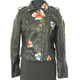 Hot sale ladies rivet jacket embroidered black short pu leather coat