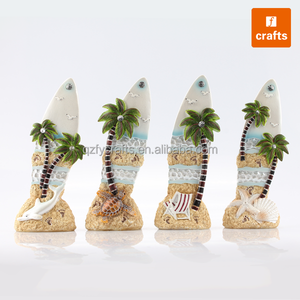 Personalized tropical island miniature decorations surfboard souvenir
