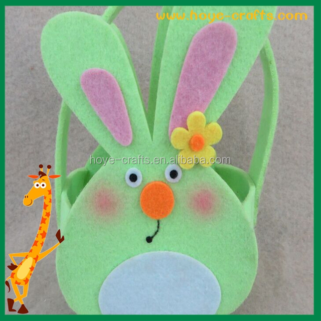 Easter promotional items source quality easter promotional items promotional items handicraft felt basket cute bunny design for easter day gifts negle Images