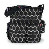 Fashion Quilted Nylon Messenger Diaper Bag For Baby