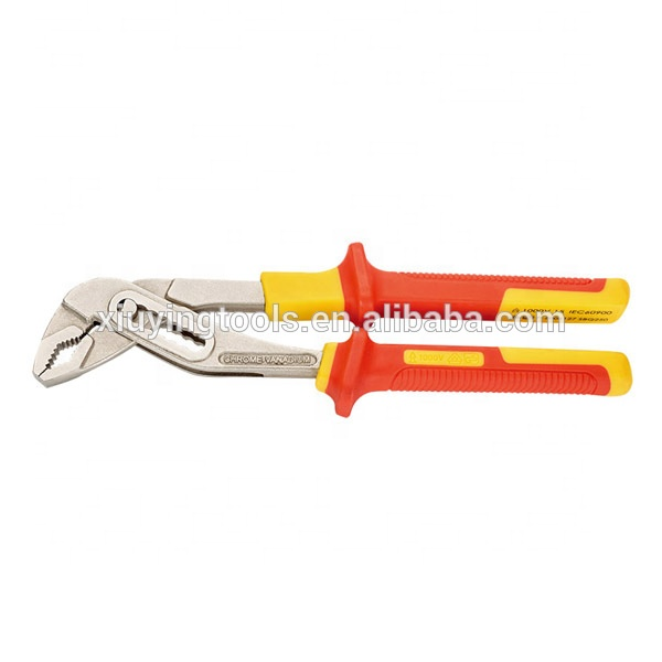 1000V VDE Tested VDE-GS Certified 7-Inch Insulated Long Nose Pliers Chrome Vanadium Steel