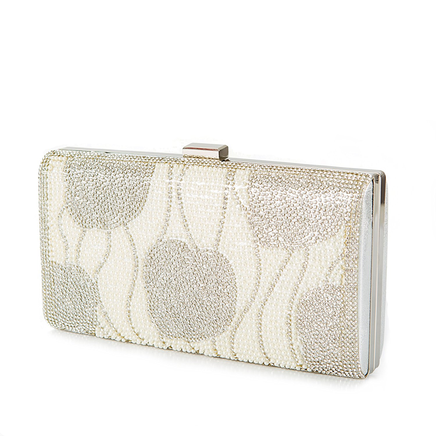 Silver Crystal Clutch Bridal Bag 51ae812684f86