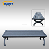 Promotional high quality aluminum outdoor bench park seat