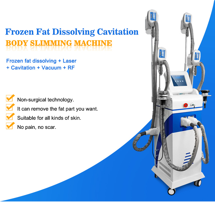 4 in 1 weight loss cryo slimming rf cavitation machine