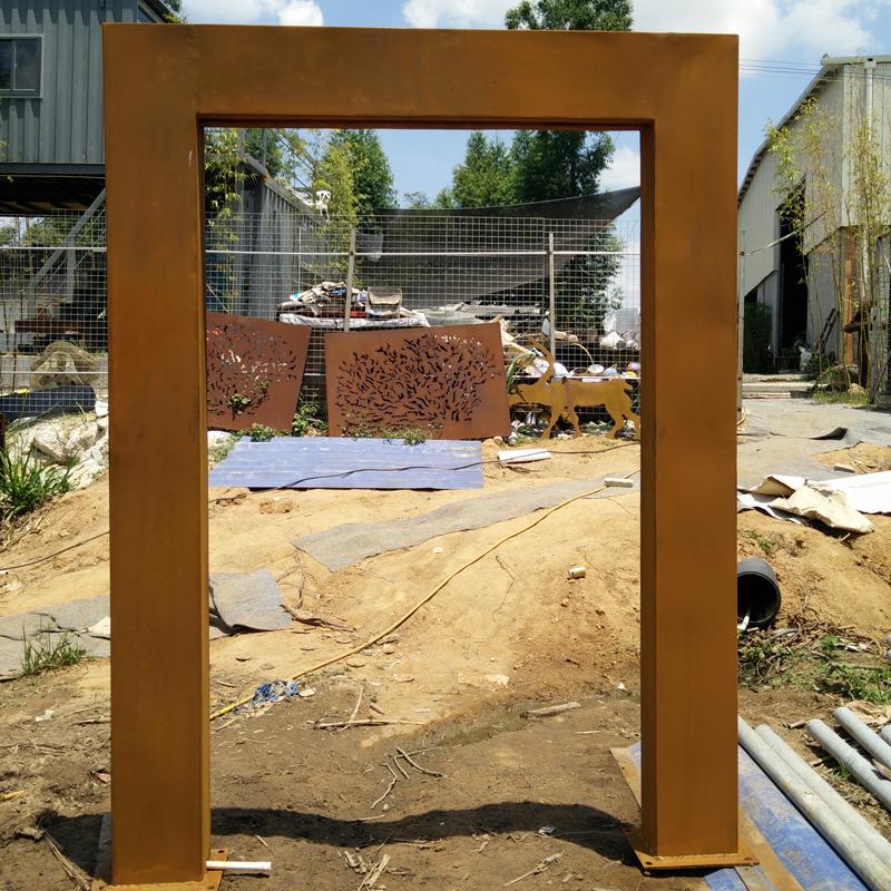 Outdoor Metal Rain Curtain Corten Steel Garden Water Feature