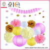 15 Pcs Birthday Party Baby Shower Decorations Tissue Pom Poms Flowers Garlands