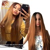 Soft And Comfortable Ombre 2 Tones 360 Wig Made By Lace Frontal With Adjustable Wig Cap,Natural Straight Synthetic Hair Vendors