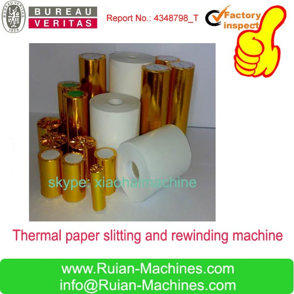 FAX PAPER/BILL/CASH PAPER/TAXI TICKET ROLL SLITTING AND REWINDING MACHINE