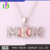 2020 Hot sale fashion style sports baseball pendant trends letter MOM charm chain necklace for women's jewelry wholesale