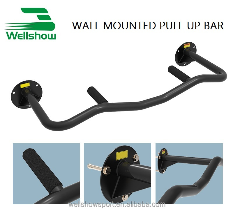 Wellshow Sport Wall Mounted Doorway Pull Up Bar Chin Up Bar