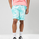 custom tie dye washed knee length french terry gym shorts men
