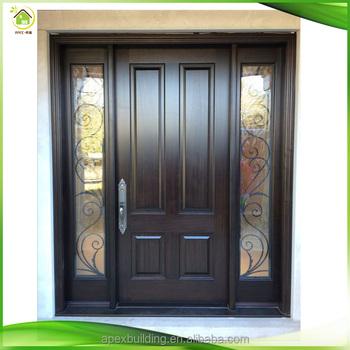 Double prehung exterior patio front solid wood doors buy for Solid wood patio doors