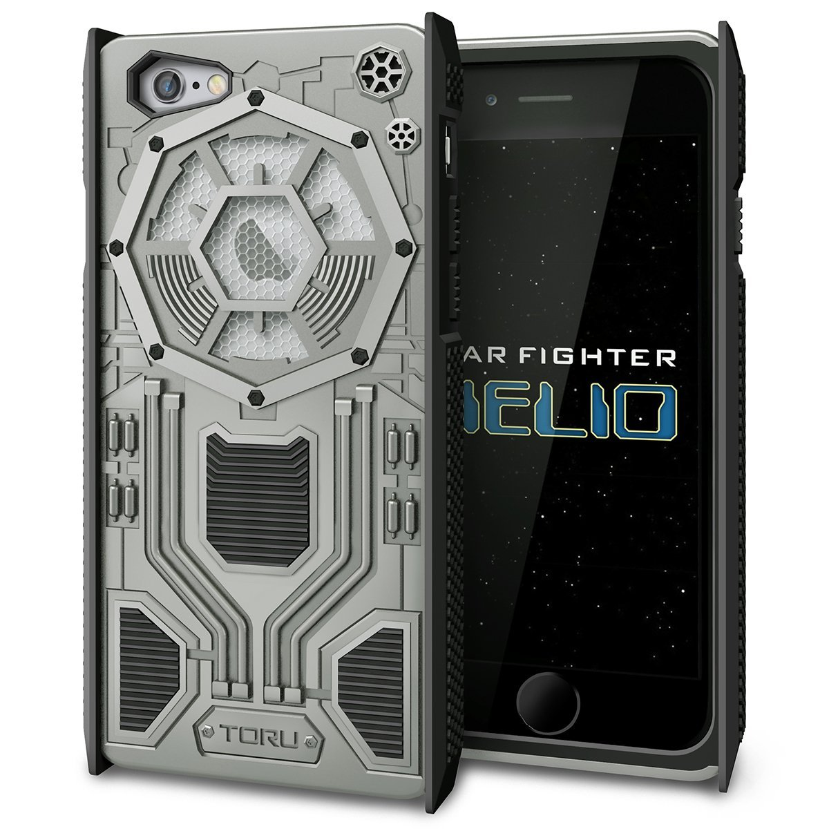 huge selection of 3f1e7 ae1c7 Buy iPhone 6S Case, TORU [STAR FIGHTER HELIO] Heavy Duty Shockproof ...