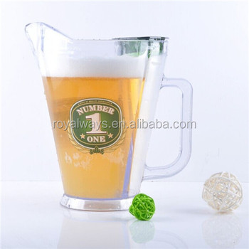 royalway design 60oz acrylic beer pitchers with ice core compartment