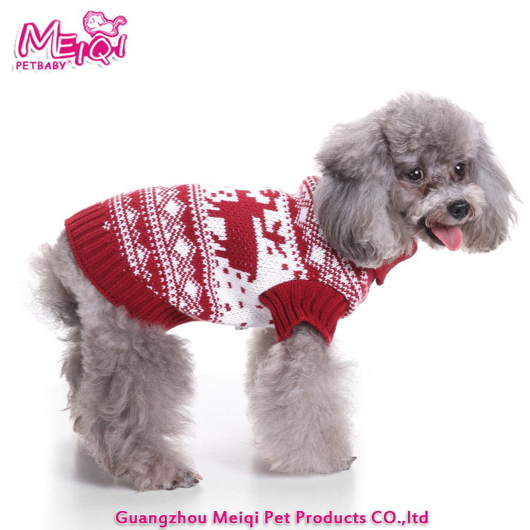 Holiday Pet Warm Clothes Colorful Christmas Pet Sweater Dog Sweaters