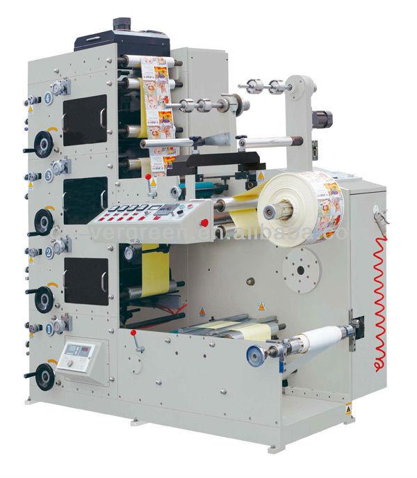 Four Color Adhesive Sticker Printer Label Printing Machine 320mm